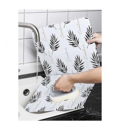 1pc Plants Print Oil-proof Baffle