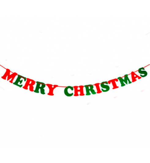 Christmas Letter Pull Flag With String
