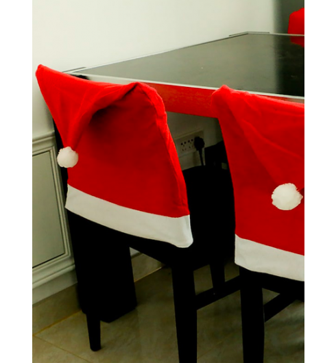 Christmas Hat Chair Cover