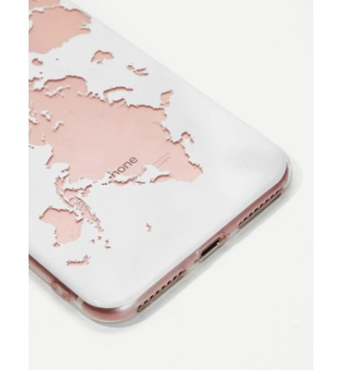World Map Phone Case for iPhone 7 Plus/8 Plus