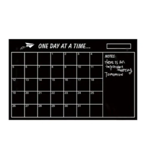 Chalkboard Calendar Wall Decal