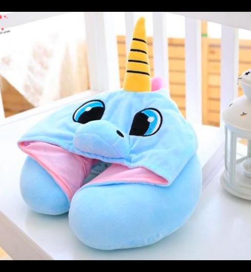 Unicorn Hoodie Neck Pillow